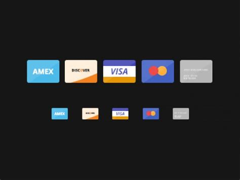 american express credit card template psd flat credit cards icons psd file free