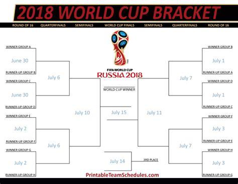 Calendario World Cup 2018 Fifa World Cup 2018 Schedule Calendar Printable 2018