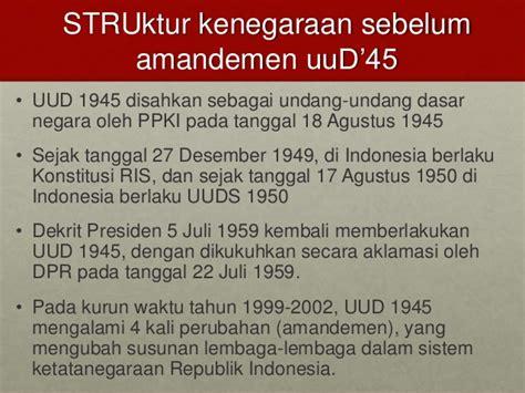 Undang Undang Dasar 1945 Hasil Amandemen Ke 4 pancasila dan amandemen uud45 kel 5