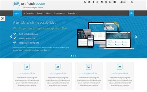 wrapbootstrap free themes artificial reason responsive full pack wrapbootstrap