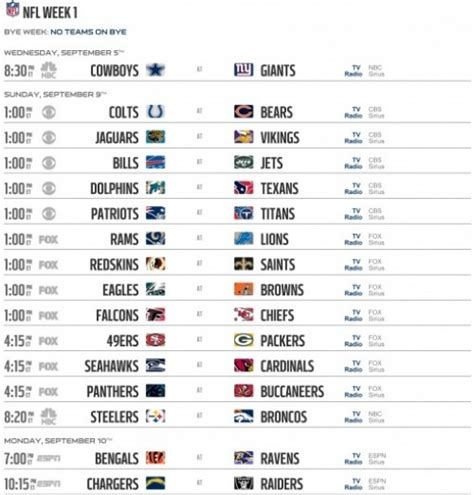 Printable Nfl Schedule Pdf | nfl schedule 2012 regular season week 11