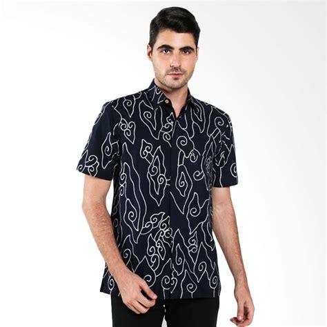 Hem Batik Katun Hm 15 jual batik trusmi hem katun tulis motif megamendung lis putih hitam batik pria harga