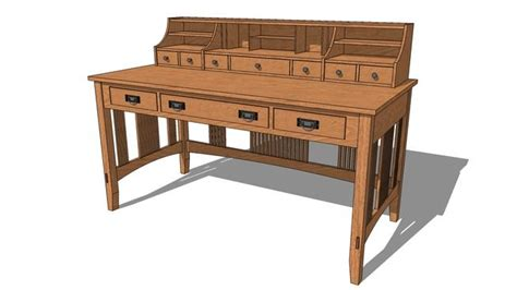 mission style desk plans woodworking projects plans