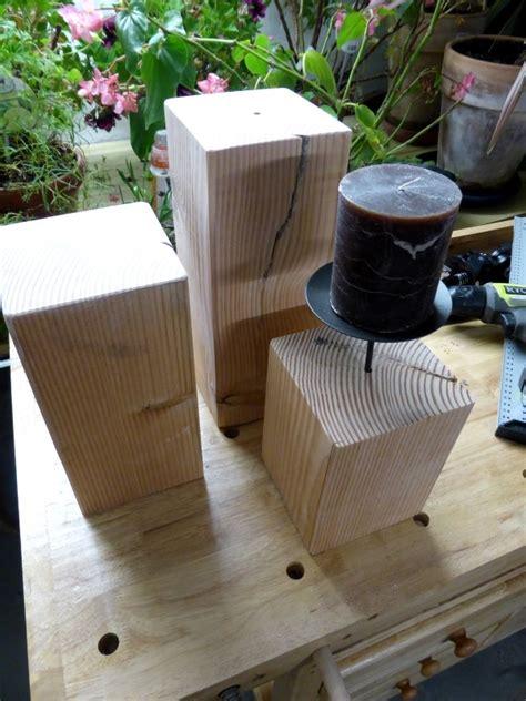 balkongeländer selber bauen kerzenst 228 nder aus holz selber bauen