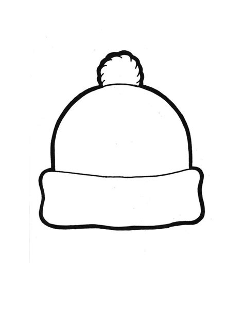 Winter Hat Template 135867 Winter Hat Coloring Page Hats Pinterest Coloring Winter Hats Hat Template