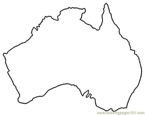 australia map free colouring pages