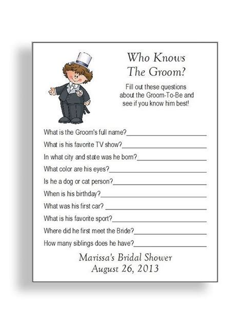 Wedding Shower Questions