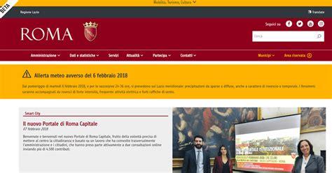 di roma on line roma capitale nuovo portale istituzionale da oggi