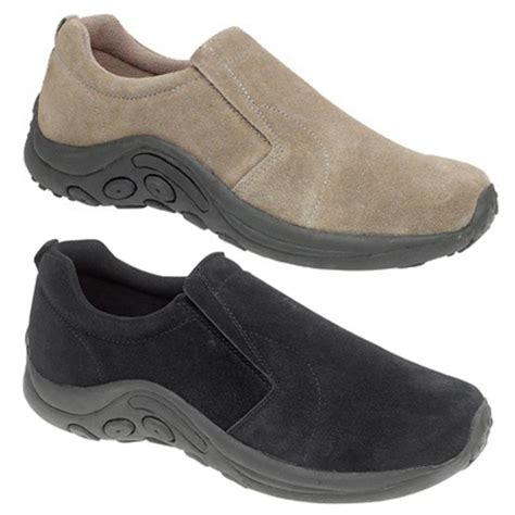 mens shoes suede leather slip ons free shipping size 6 7 8