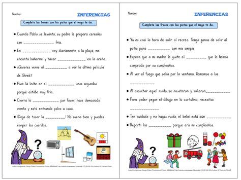lecturas con preguntas inferenciales para secundaria comprensi 211 n lectora de frases cortas inferencias aula pt