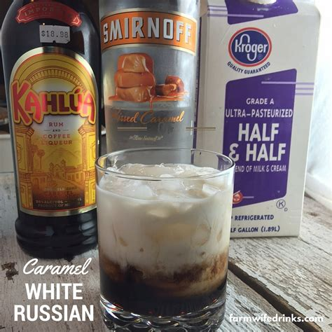 white russian cocktail caramel white russians the farmwife drinks