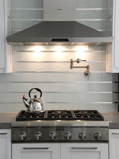 modern kitchen backsplash pictures 20 stainless steel kitchen backsplashes hgtv