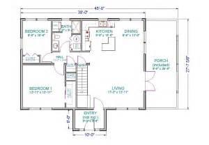 single story cabin floor plans