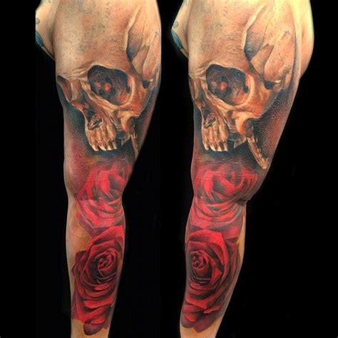 sebastian tattoo sebastian nowacki roses skull inspirations