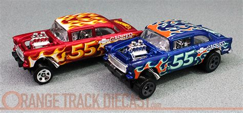 Sale Wheels 55 Chevy Bel Air Gasser Orange Mtf36 hw flames 55 chevy bel air gasser orange track diecast