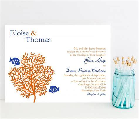 coral reef wedding invitations coral reef wedding invitation tropical fish theme wedding invitation 2521842 weddbook