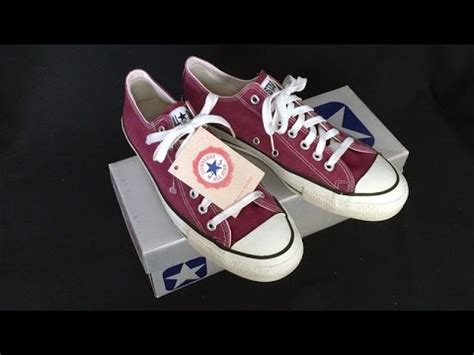 Sepatu Converse Chuck Ii Maroon Made In 1 vintage usa made converse all chuck shoes sz 9 5 magenta burgundy at collectornet
