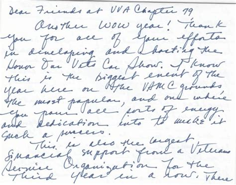 Thank You Letter To History Veteranscomingevents