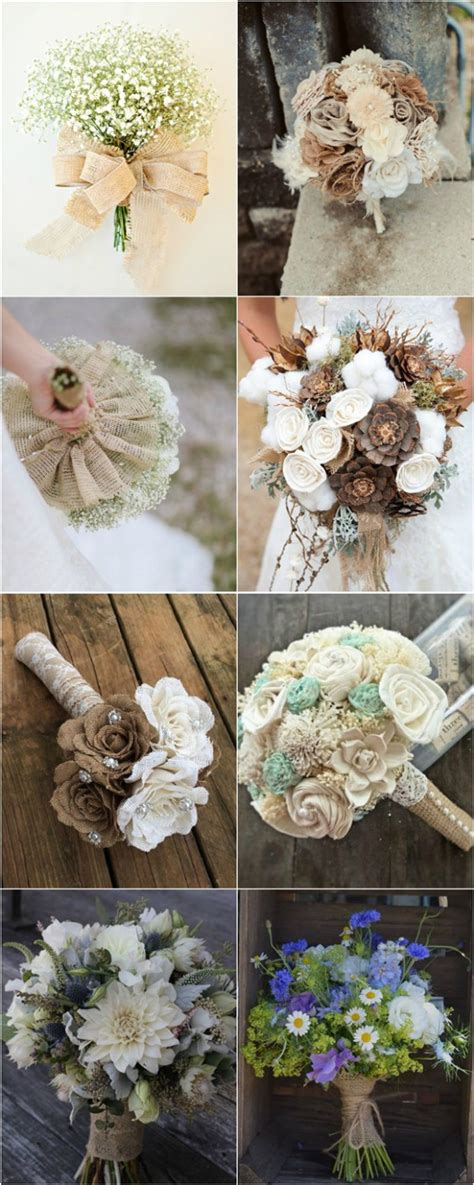 Wedding Bouquet Lace by 30 Rustic Burlap And Lace Wedding Ideas