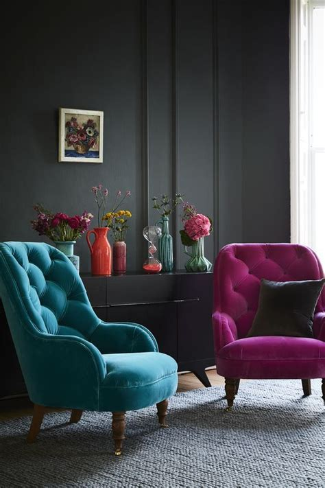 Colorful Living Room Furniture Best 25 Velvet Chairs Ideas On Pinterest Pink Office Pink Velvet 2 And Pink Velvet