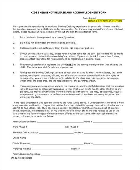 Acknowledgement Permission Letter Parental Release Form Field Trip Form Best 25 Field Trip