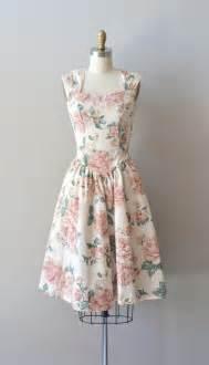 Vintage floral dress rose print cotton dress modern romance dress