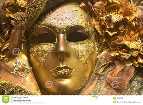 Pibamy Gold Mask Pibamy Time Gold Mask luxury gold mask from venice stock photo image 4303670