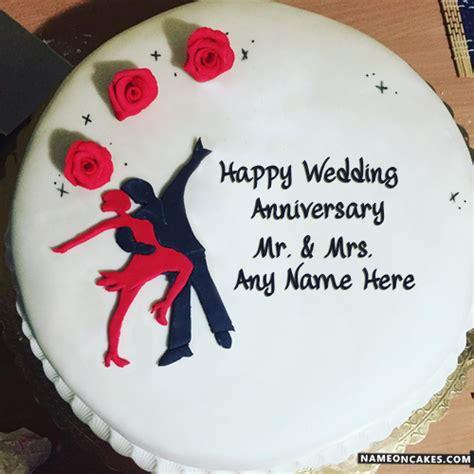 wedding anniversary cake with name best wedding anniversary cakes with name