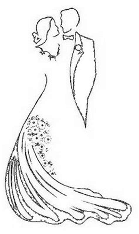 And Groom Outline Drawing by And Groom Silhouette Sketch Coloring Page