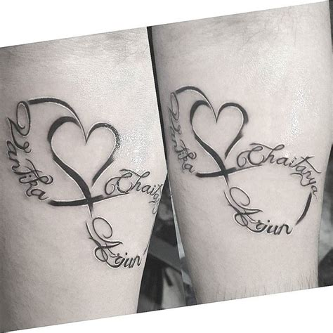 infinity tattoo unterarm 25 best ideas about infinity tattoo with names on