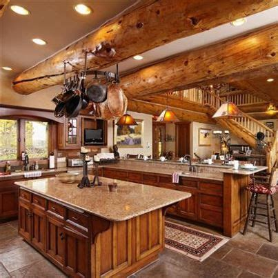 Log Countertops by Log Cabin Kitchen With Granite Countertops Log Cabin