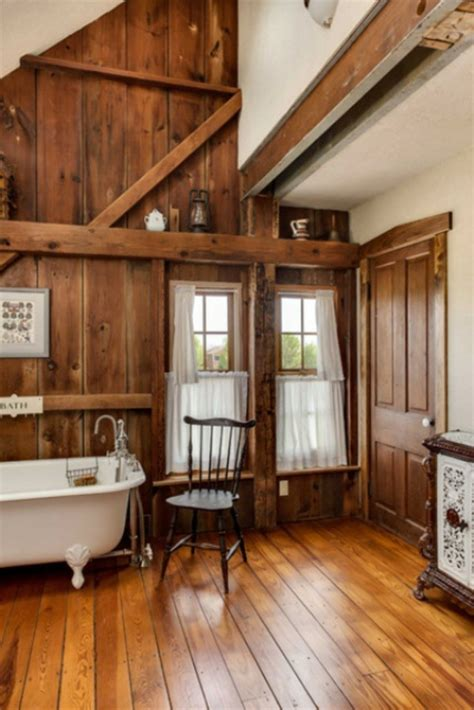 vintage home love how to build a rustic kitchen table island 35 rustikale badezimmer design ideen l 228 ndlicher scheunen