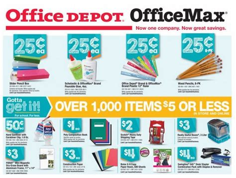 office depot officemax back to school deals 8 17 8 23