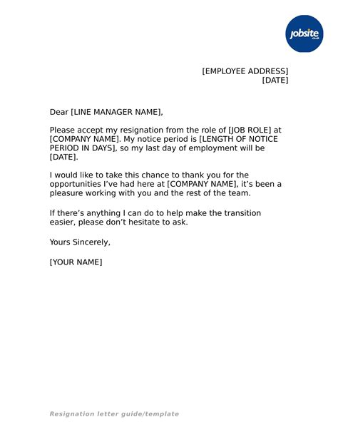 23 Simple Resignation Letter Exles Pdf Word Resignation Letter Template