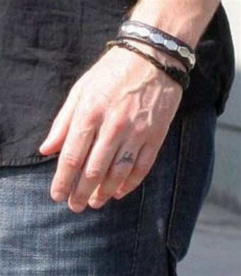 david duchovny ring finger design tattoo tattoos book