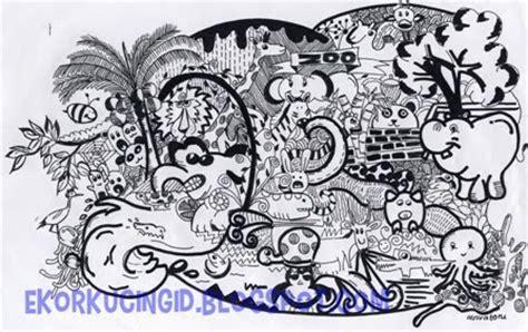 doodle hewan e kor kucing