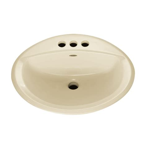 Home Depot Bathroom Sink by American Standard Aqualyn Self Drop In Bathroom Sink In Linen The Home Depot Canada