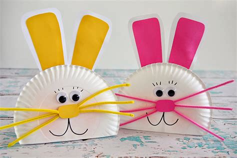 Paper Plate Easter Crafts - hop into some craft activities with the this easter