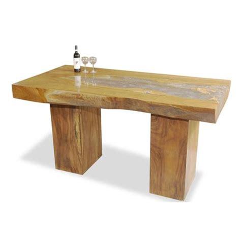 Vintage Bar Table Rustic Cairns Teak And Cracked Resin Vintage Bar Table