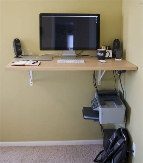 Easy Laptop Desk 6 Diy Standing Desks Desk Shelves Desks And