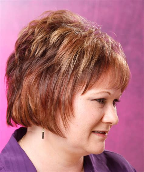 haircuts with height on top short straight formal hairstyle with layered bangs