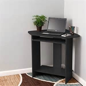 fineboard home office compact corner desk black small corner computer desk