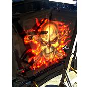 Flames And Skulls Ford Compact  Airbrush Art Usa