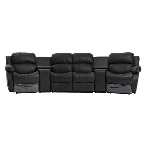 4 seater recliner sofa nikki black leather 4 seater home theatre lounge suite 4
