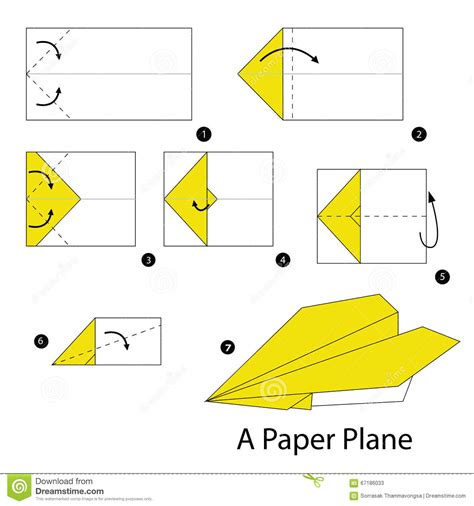 How Do I Make A Paper Plane - step by step how to make origami a plane