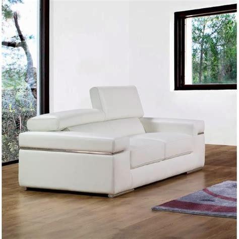 canape cuir blanc design canap 233 2 places en cuir blanc design achat vente