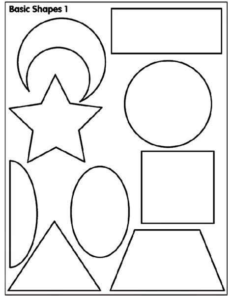 printable simple shapes basic shapes 1 coloring page crayola com