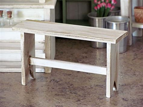 shabby chic bench 1 6 scale miniature wooden bench white cottage shabby chic