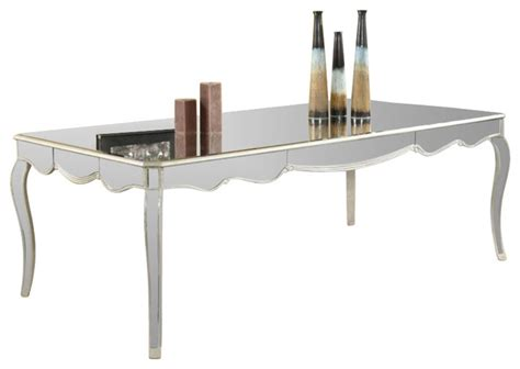 Silver Leaf Dining Table Camille Dining Table By Lighting Silver Leaf Finish Transitional Dining Tables By
