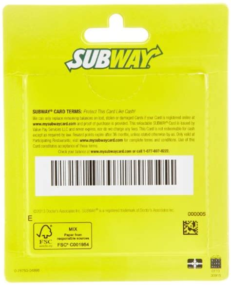 Subway Gift Card - fallback no image 3190